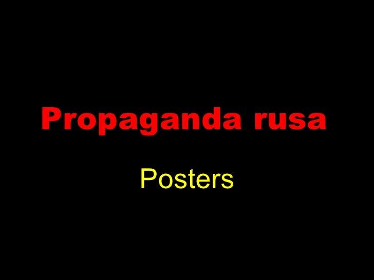 Propaganda rusa   Posters