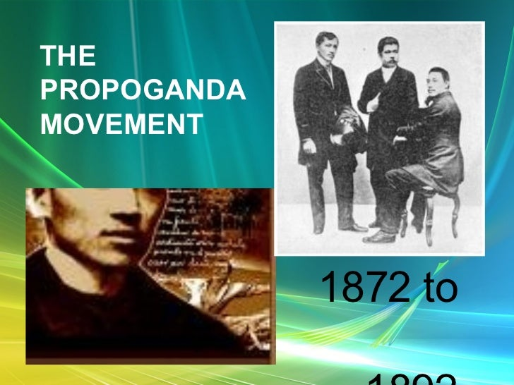 THE PROPOGANDA MOVEMENT 1872 to  1892