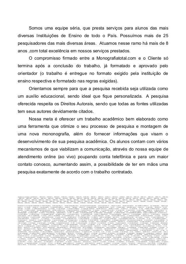 Exemplo de apresentação de monografia em power point
