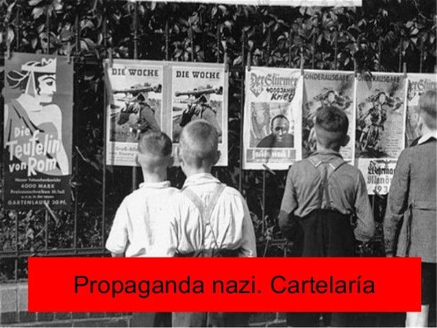 Propaganda nazi. Cartelaría