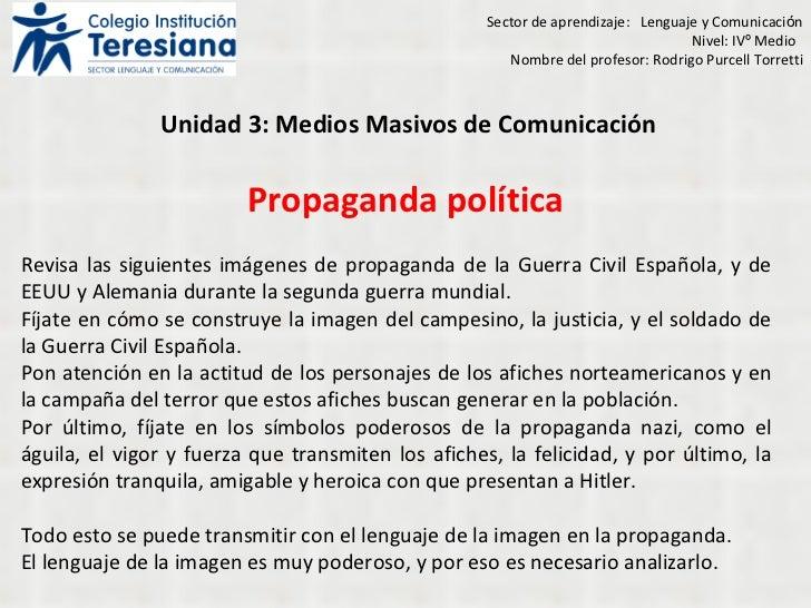 Propaganda   política Revisa las siguientes imágenes de propaganda de la Guerra Civil Española, y de EEUU y Alemania duran...