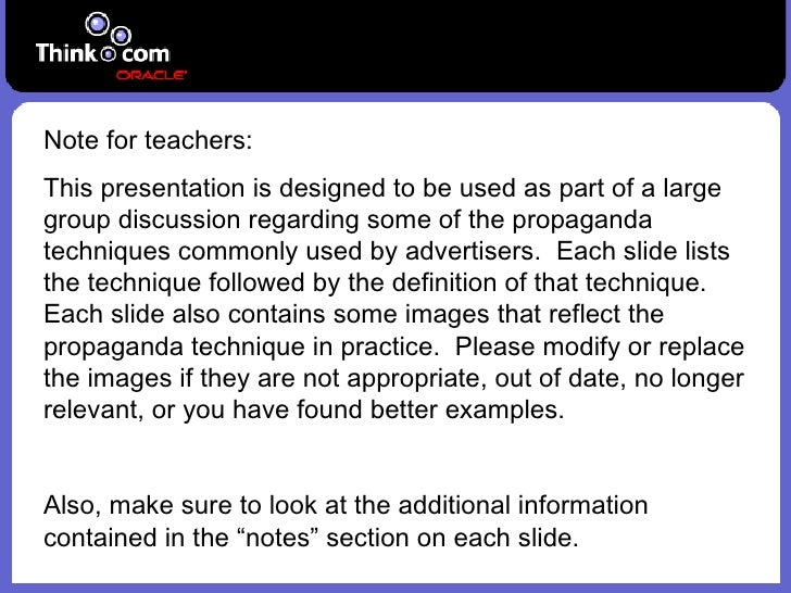 Note for teachers: This presentation is designed to be used as part of a large group discussion regarding some of the prop...