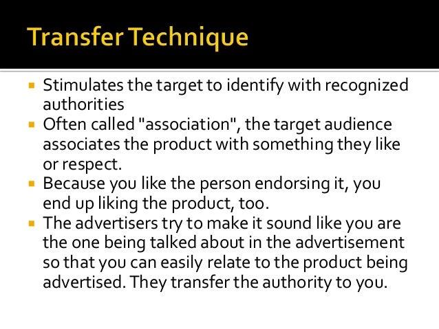 Propaganda techniques in advertising