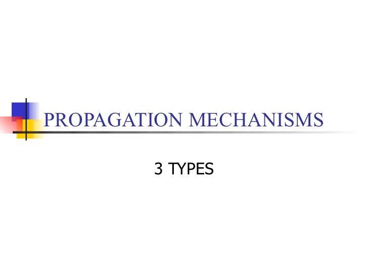PROPAGATION MECHANISMS 3 TYPES