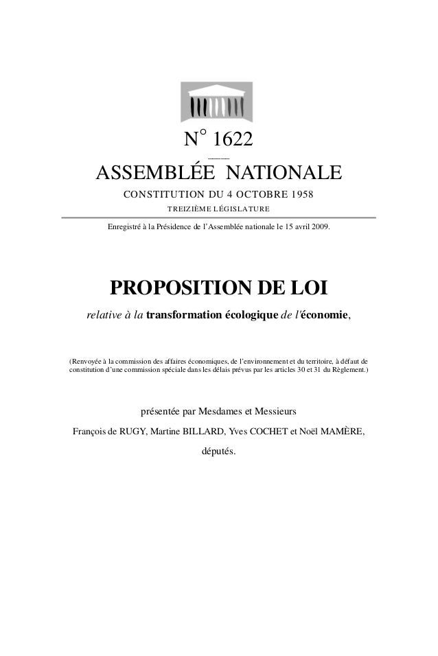 N° 1622 _____ ASSEMBLÉE NATIONALE CONSTITUTION DU 4 OCTOBRE 1958 TREIZIÈME LÉGISLATURE Enregistré à la Présidence de l'Ass...