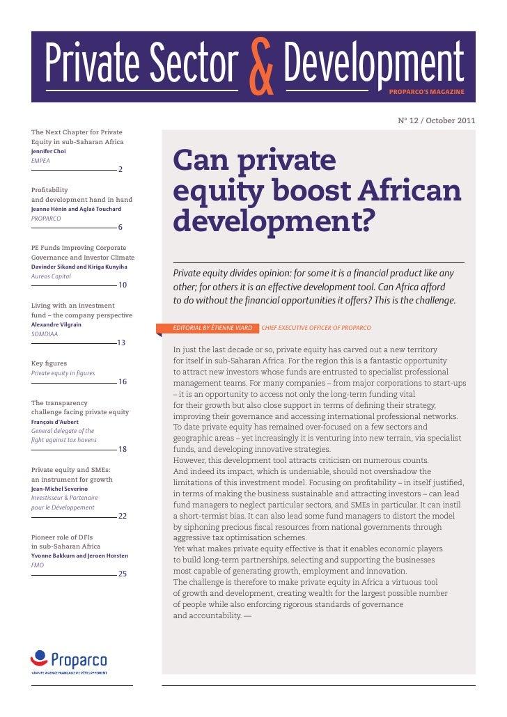 Private Sector & Development                                                                        proparcos magazine    ...