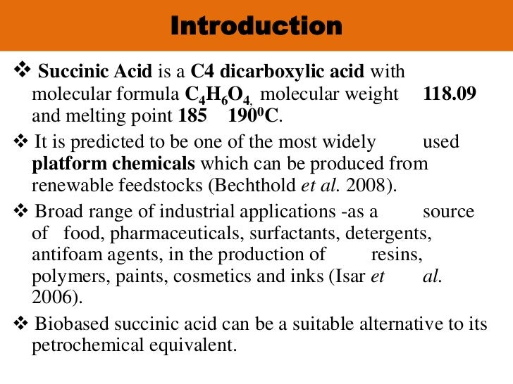 Succinic acid in food