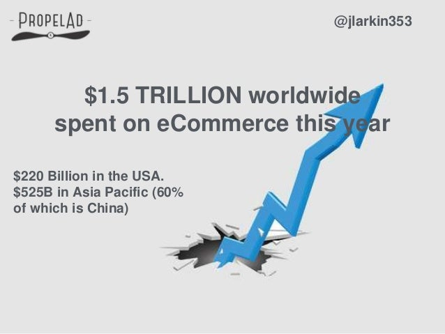 $1.5 TRILLION worldwide spent on eCommerce this year @jlarkin353 $220 Billion in the USA. $525B in Asia Pacific (60% of wh...