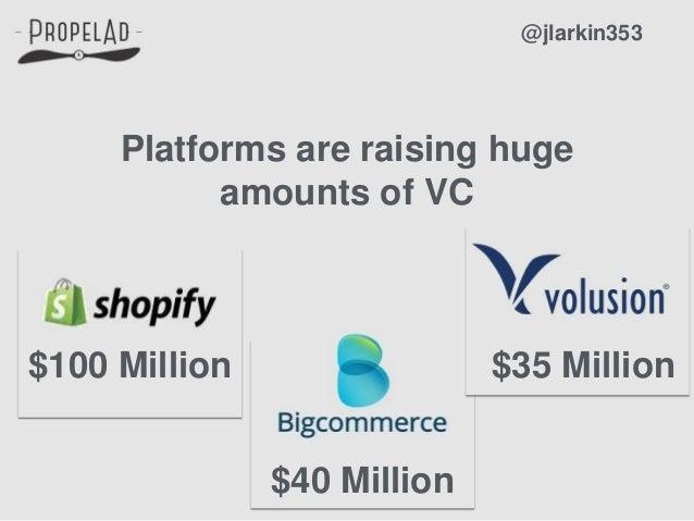 Platforms are raising huge amounts of VC @jlarkin353 $100 Million $40 Million $35 Million