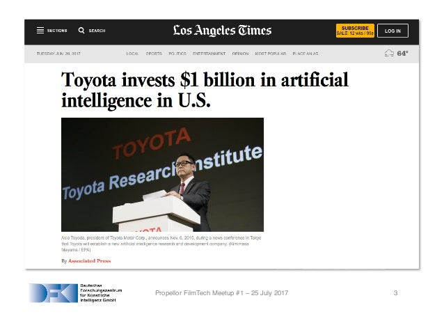 Artificial Intelligence for the Film Industry Slide 3