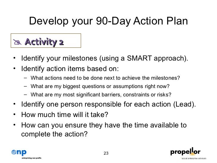 Strategic Plan To Action (Propellor)