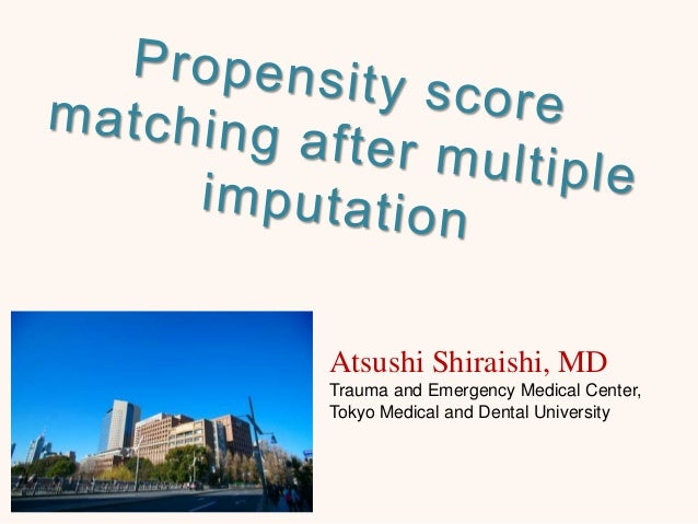 Atsushi Shiraishi, MD Trauma and Emergency Medical Center, Tokyo Medical and Dental University