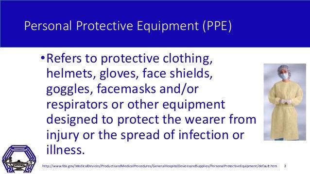 Proper Donning and Doffing of PPE Slide 2