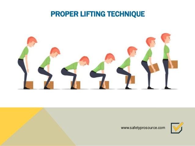 Proper lifting technique images — 2