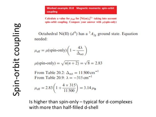 Properties of coordination complexes Complete
