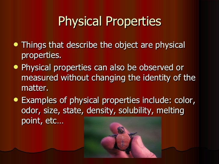 Knowing About Chemical Properties Can Help In Identifying