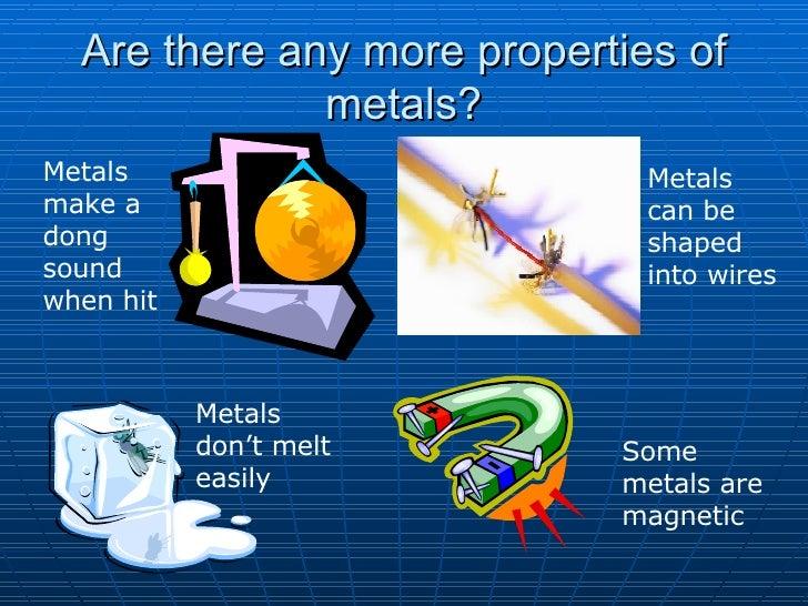Properties Data for Chemicals & Materials: Metals