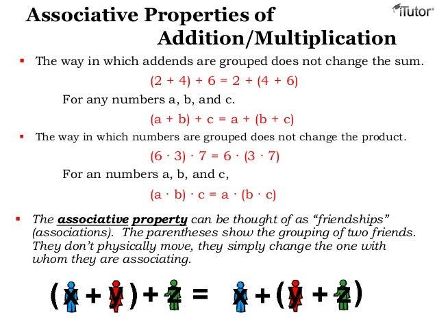 Properties of Addition Multiplication – Associative Property Worksheet