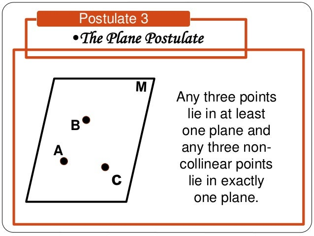 Three Point Plane : Properties of geometric figures