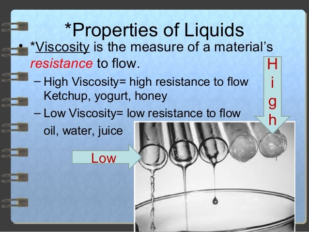 Properties Of Liquids And Gasese