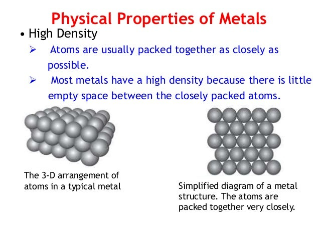 12 physical properties of metals