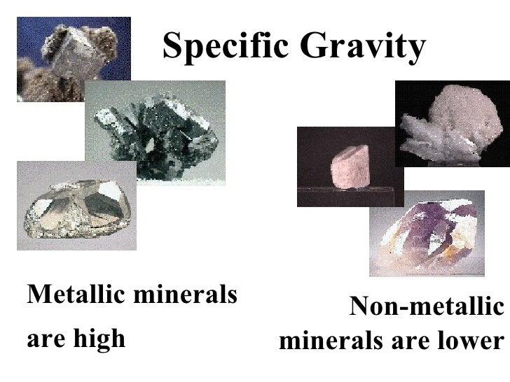properties of metallic minerals