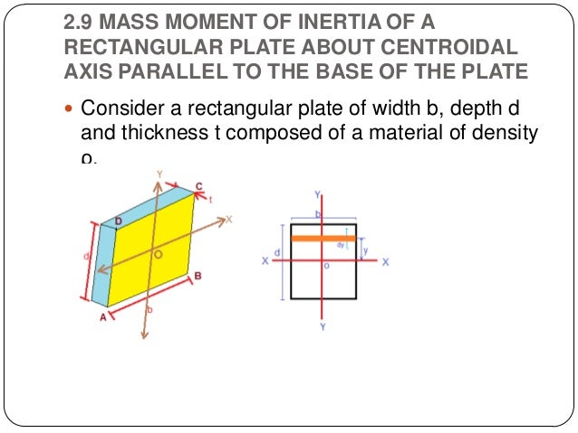 Properties Of Surfaces Centre Of Gravity And Moment Of Inertia