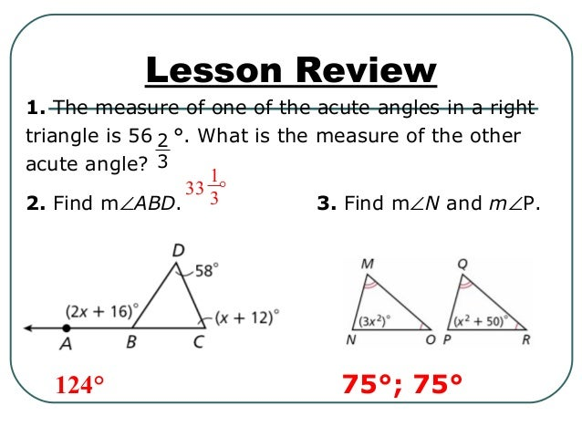 Properties of triangles - Exterior angle inequality theorem ...