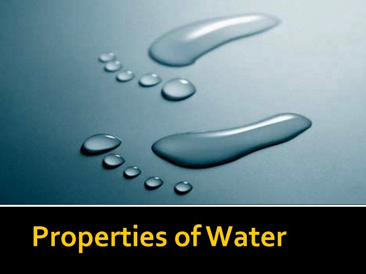 Properties Of Water Lesson