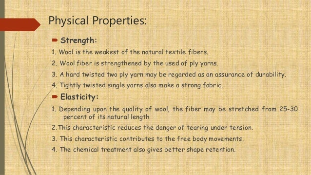 Physical Amp Chemical Properties Of Wool Fiber