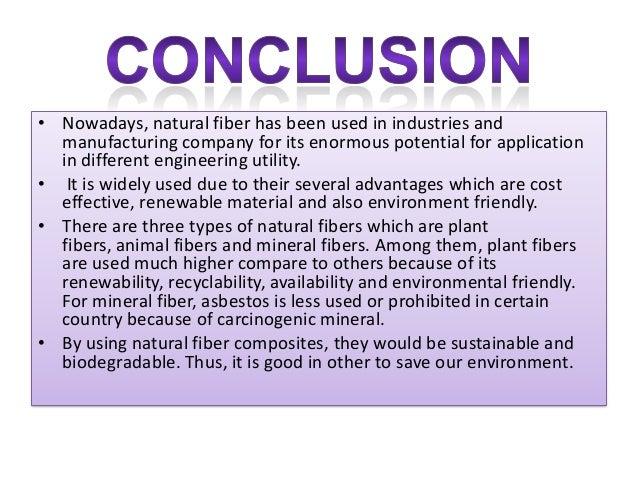 Properties, prossesing of natural fiber