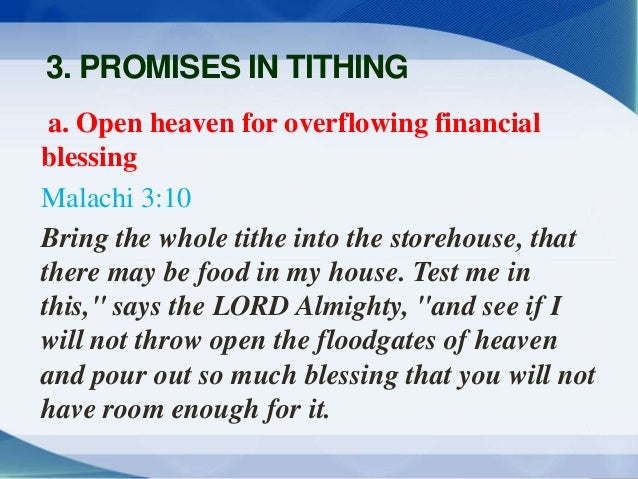 Proper Tithing To Receive The Promised Blessings