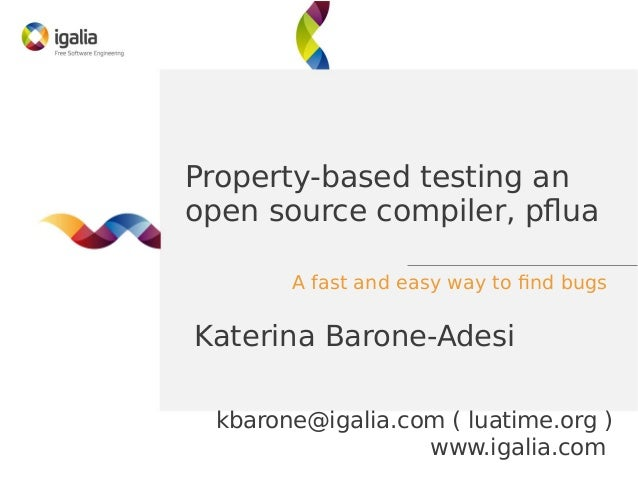Property-based testing an open-source compiler, pflua