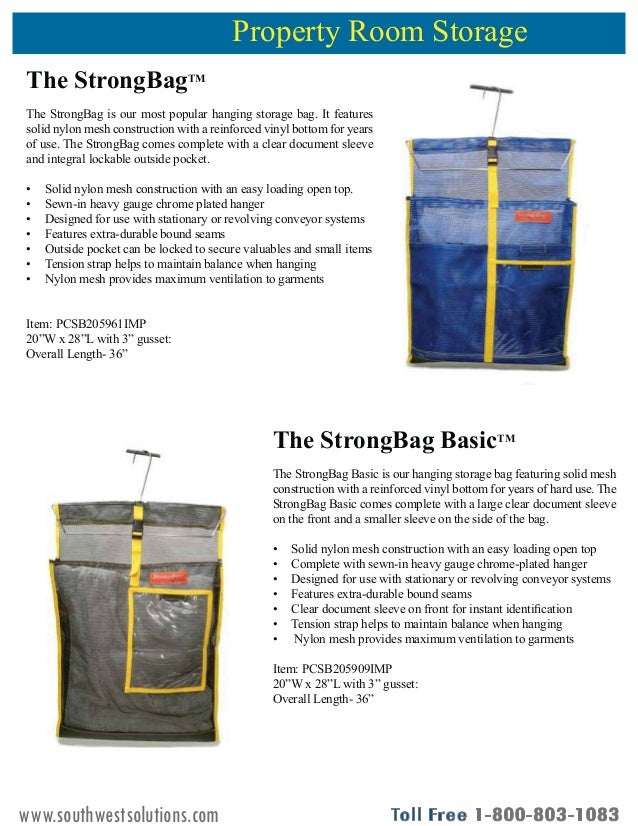 Inmate Property Storage Solutions Product Guide Slide 2