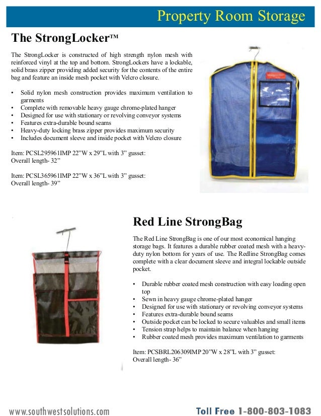 Inmate Property Storage Solutions Product Guide Slide 3