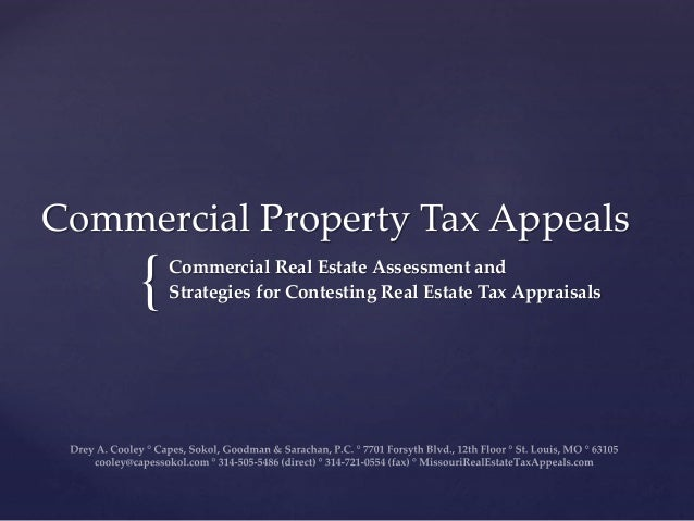 Commercial Property Assessment : Missouri commercial real estate property tax appeals