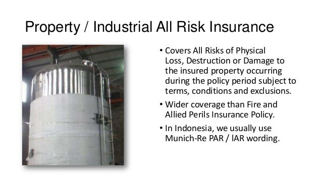 all risk insurance policy pdf