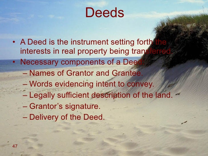 Legally Sufficient Real Property Description