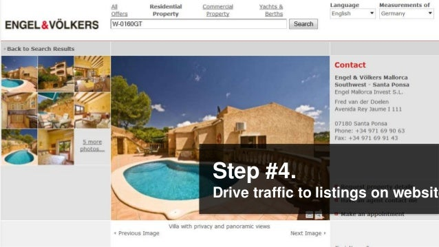 Step #4.Drive traffic to listings on website