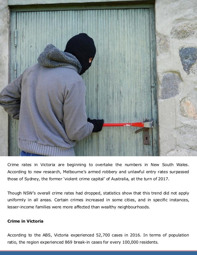 Property Crime Trends in NSW and Victoria