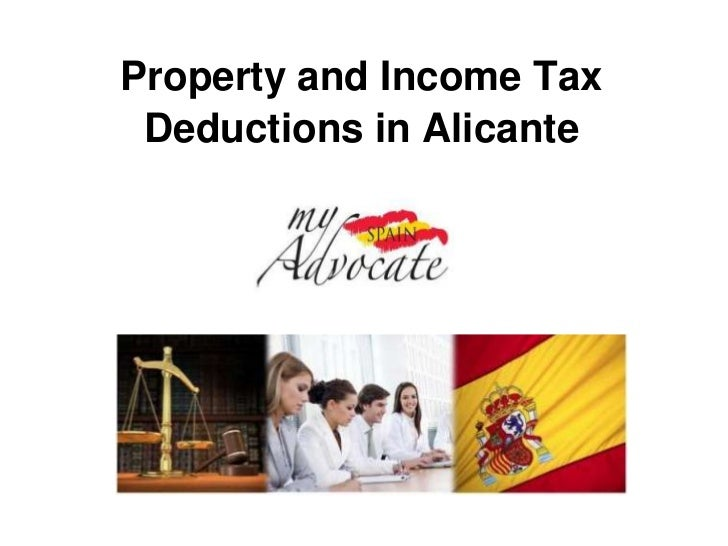 Property and Income Tax Deductions in Alicante