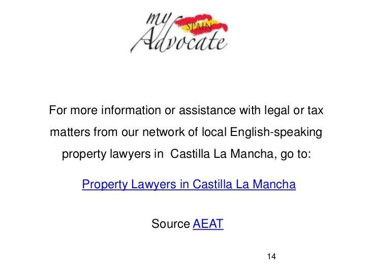 Property & income tax deductions in castilla la mancha