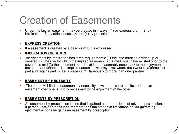 easements land law In land law, covenants can burden land and affect the use of it somehow  alternatively, a covenant may give the owner control over what is done on the  land that.
