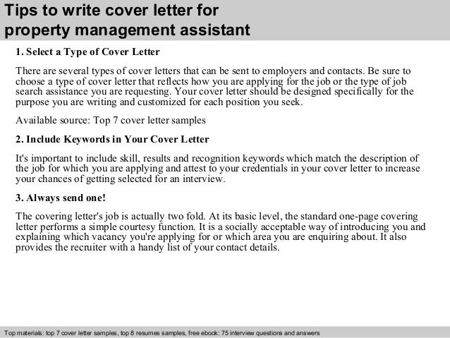 ... 3. Tips To Write Cover Letter For Property Management ...  Cover Letter For Management
