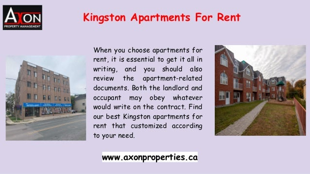 Kingston Apartments For Rent When you choose apartments for rent, it is essential to get it all in writing, and you should...