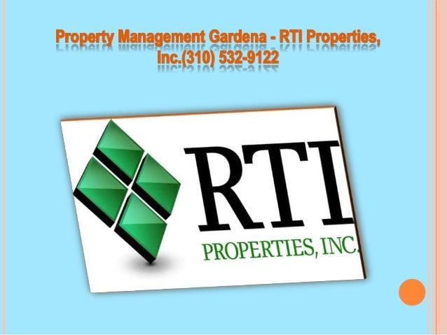 Elegant Property Management Gardena   RTI Properties, Lnc.