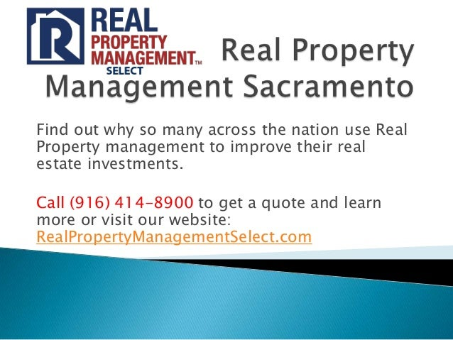 Find out why so many across the nation use RealProperty management to improve their realestate investments.Call (916) 414-...