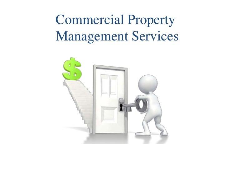 Commercial PropertyManagement Services