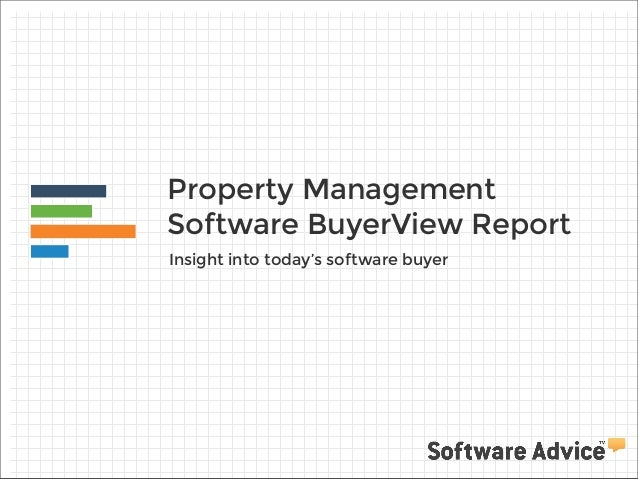 Property Management Software BuyerView Report Insight into today's software buyer
