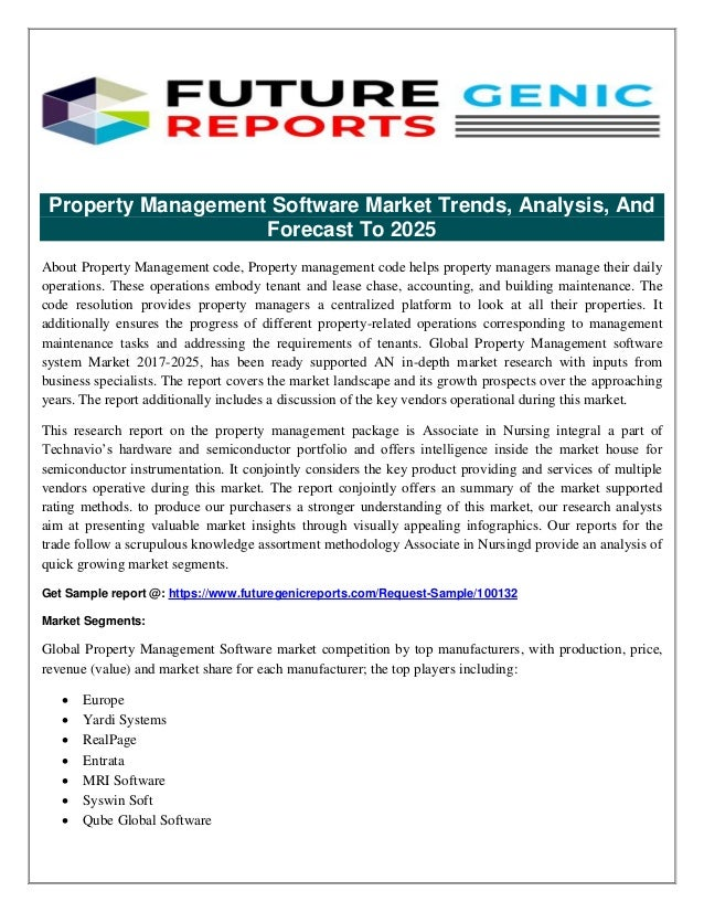 Property Management Software Market in US Industry : Insights, Develo…